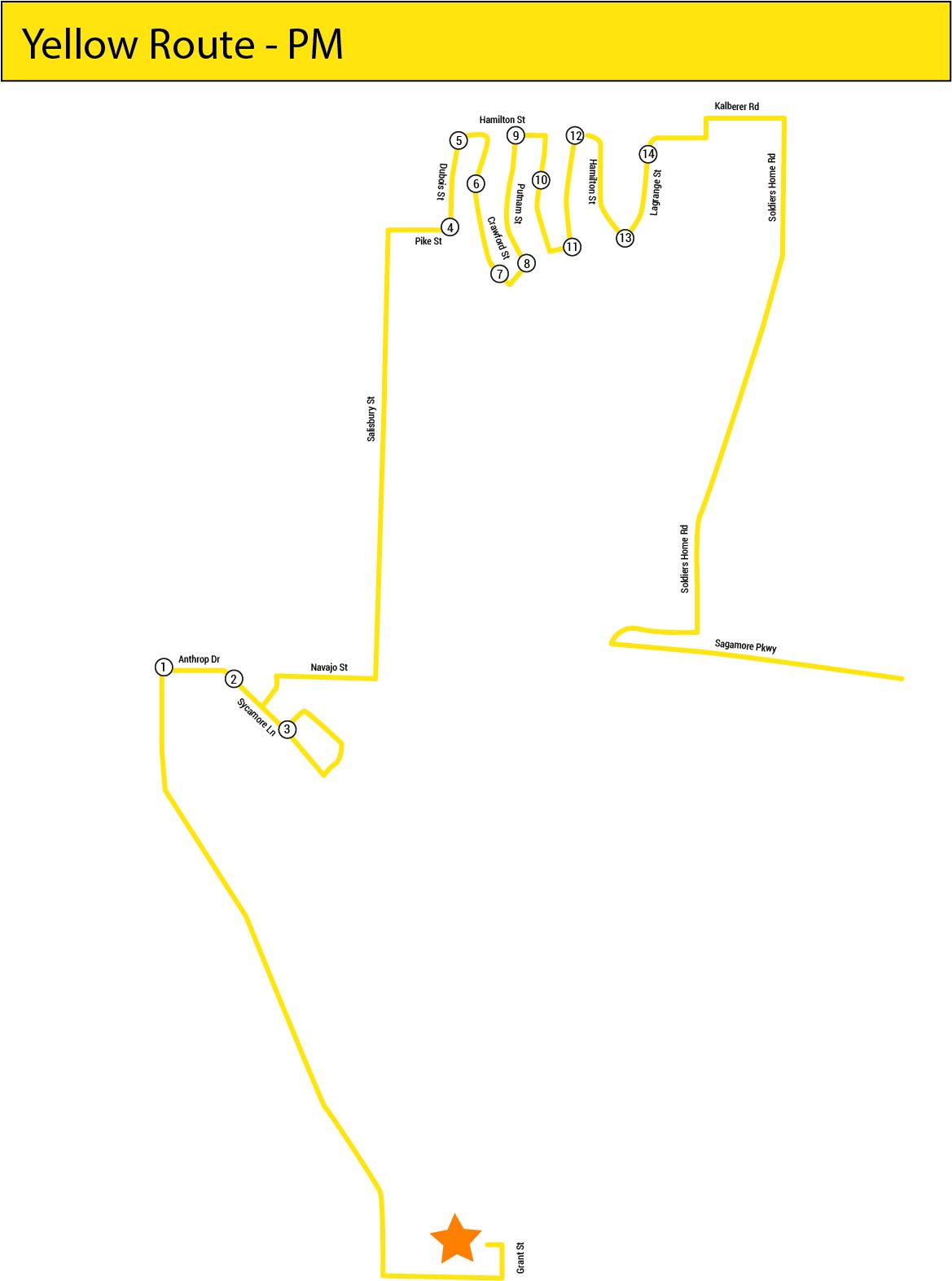 Yellow Line map